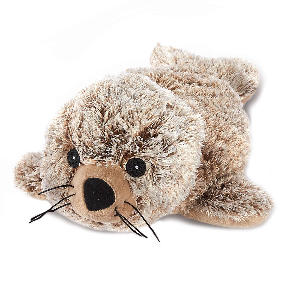 Warmies® Fully Microwaveable Plush Toy Seal, Heatable Soft Cuddly Teddy With Relaxing Lavender Scent