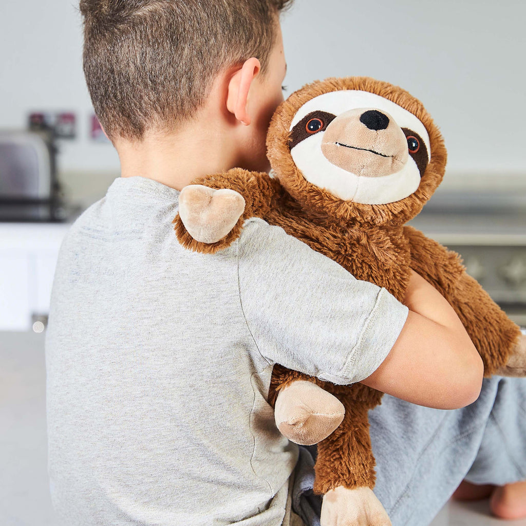 Warmies® Fully Microwaveable Plush Toy Sloth, Heatable Soft Cuddly Teddy With Relaxing Lavender Scent