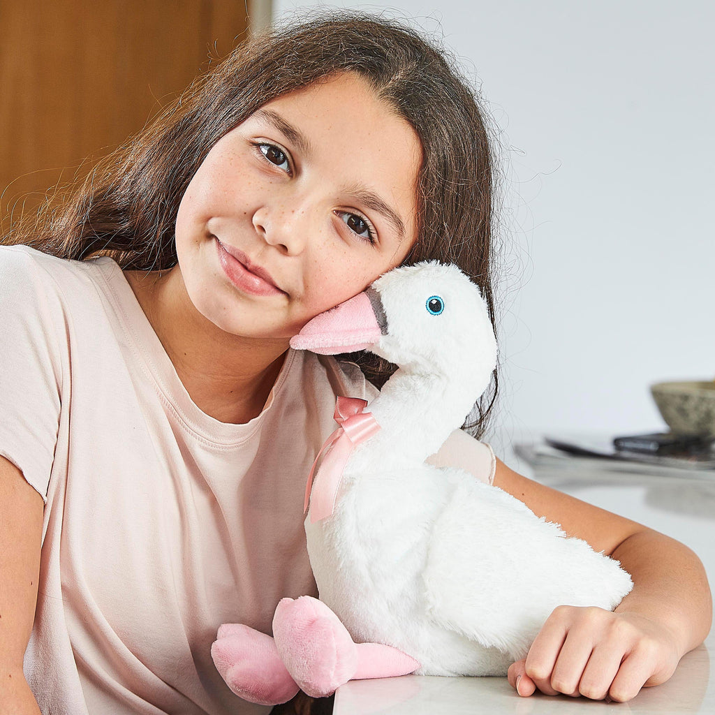 Warmies® Fully Microwaveable Plush Toy Swan, Heatable Soft Cuddly Teddy With Relaxing Lavender Scent