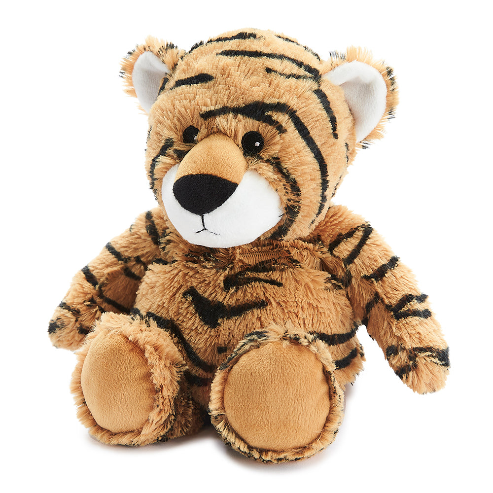 Warmies® Fully Microwaveable Plush Toy Tiger, Heatable Soft Cuddly Teddy With Relaxing Lavender Scent