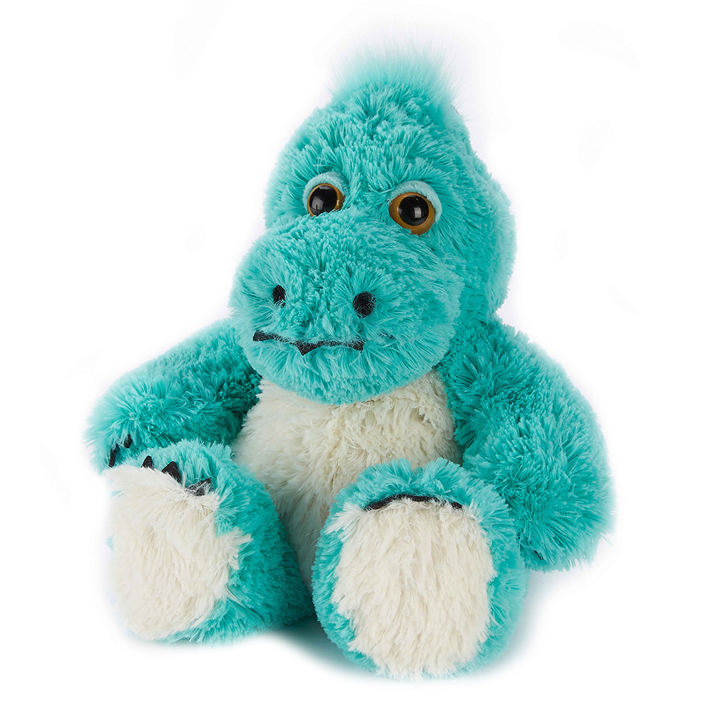Warmies® Fully Microwaveable Plush Toy Turquoise Dinosaur, Heatable Soft Cuddly Teddy With Relaxing Lavender Scent