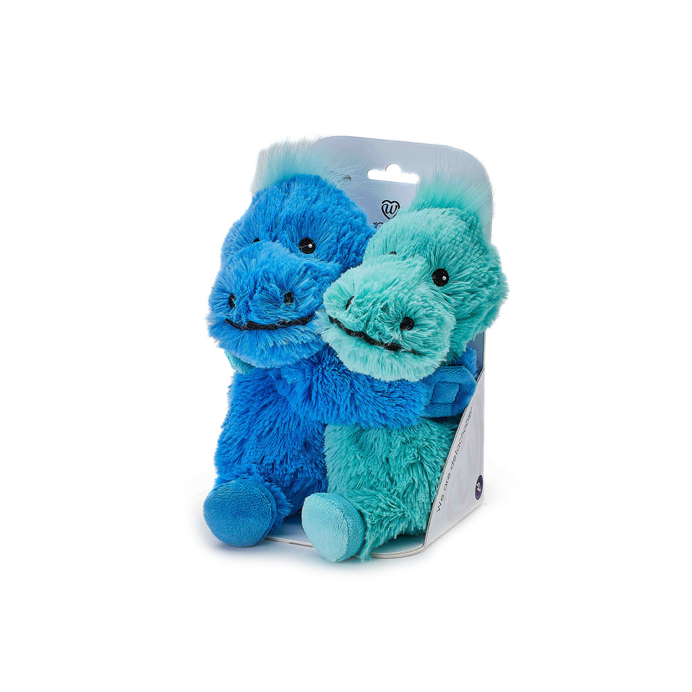 Warmies® Fully Microwaveable Warm Hugs Dinosaurs, Heatable Soft Cuddly Teddy With Relaxing Lavender Scent