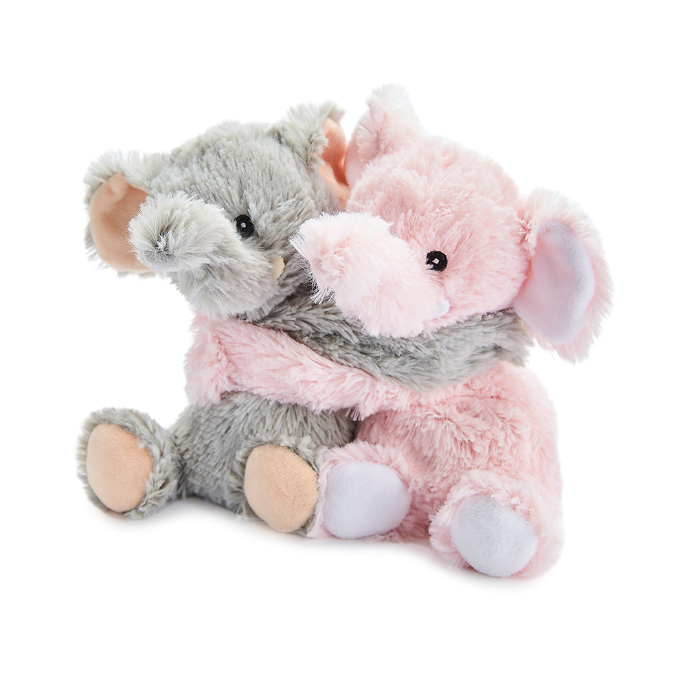 Warmies® Fully Microwaveable Warm Hugs Elephants, Heatable Soft Cuddly Teddy With Relaxing Lavender Scent