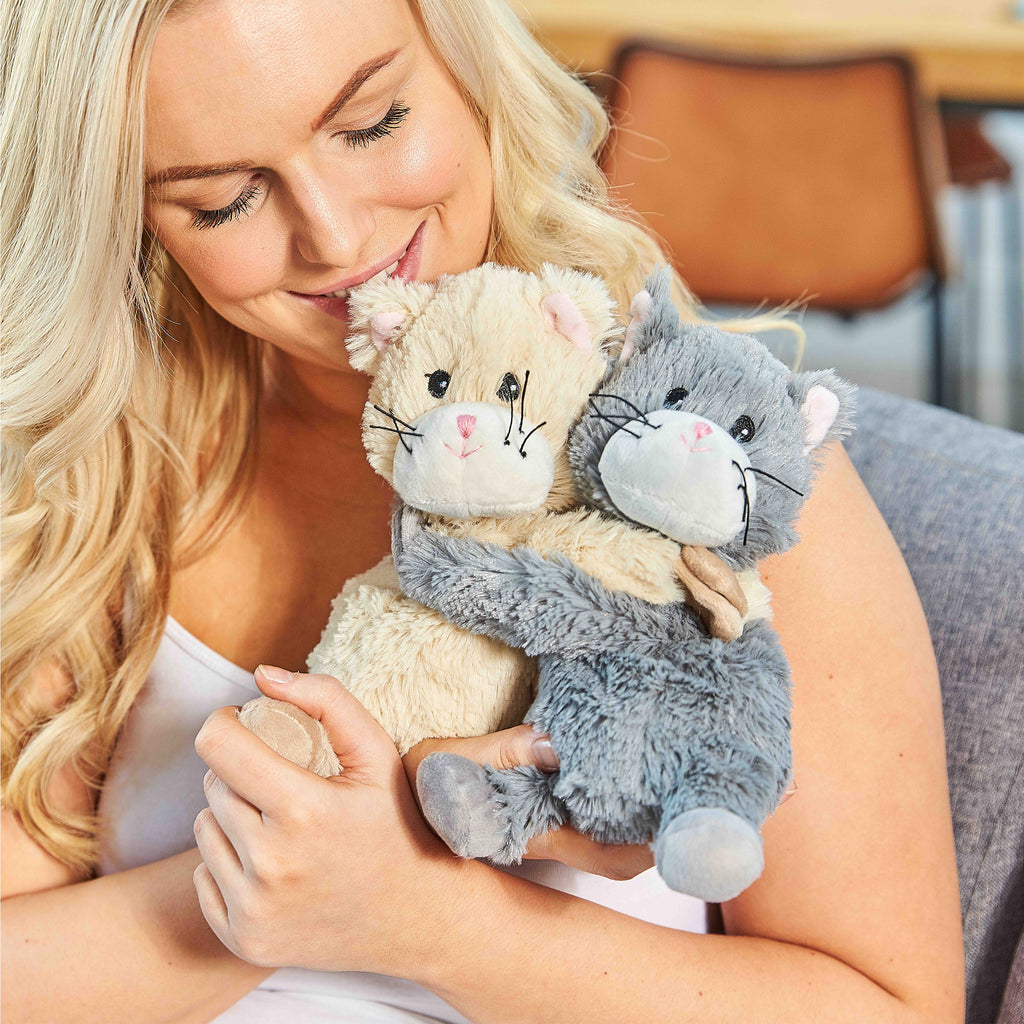 Warmies® Fully Microwaveable Warm Hugs Kittens, Heatable Soft Cuddly Teddy With Relaxing Lavender Scent