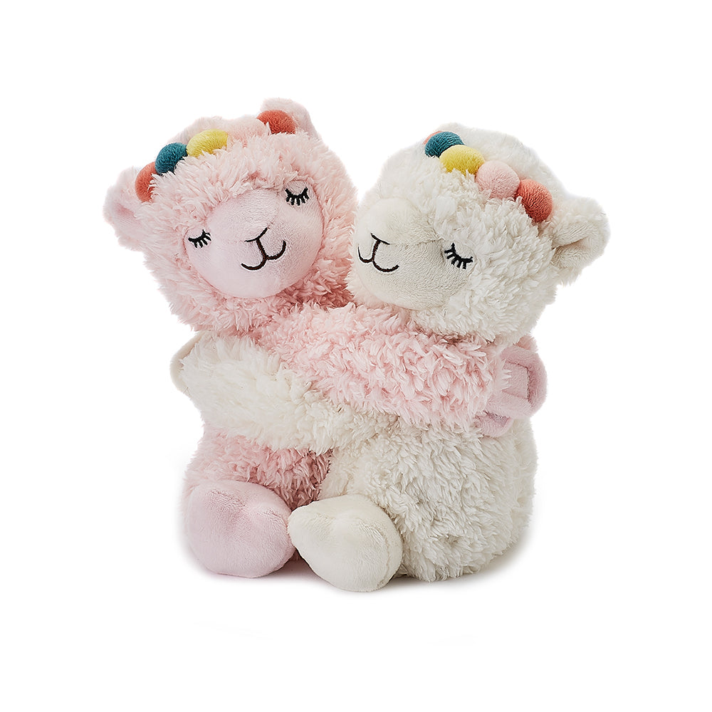 Warmies® Fully Microwaveable Warm Hugs Llamas, Heatable Soft Cuddly Teddy With Relaxing Lavender Scent