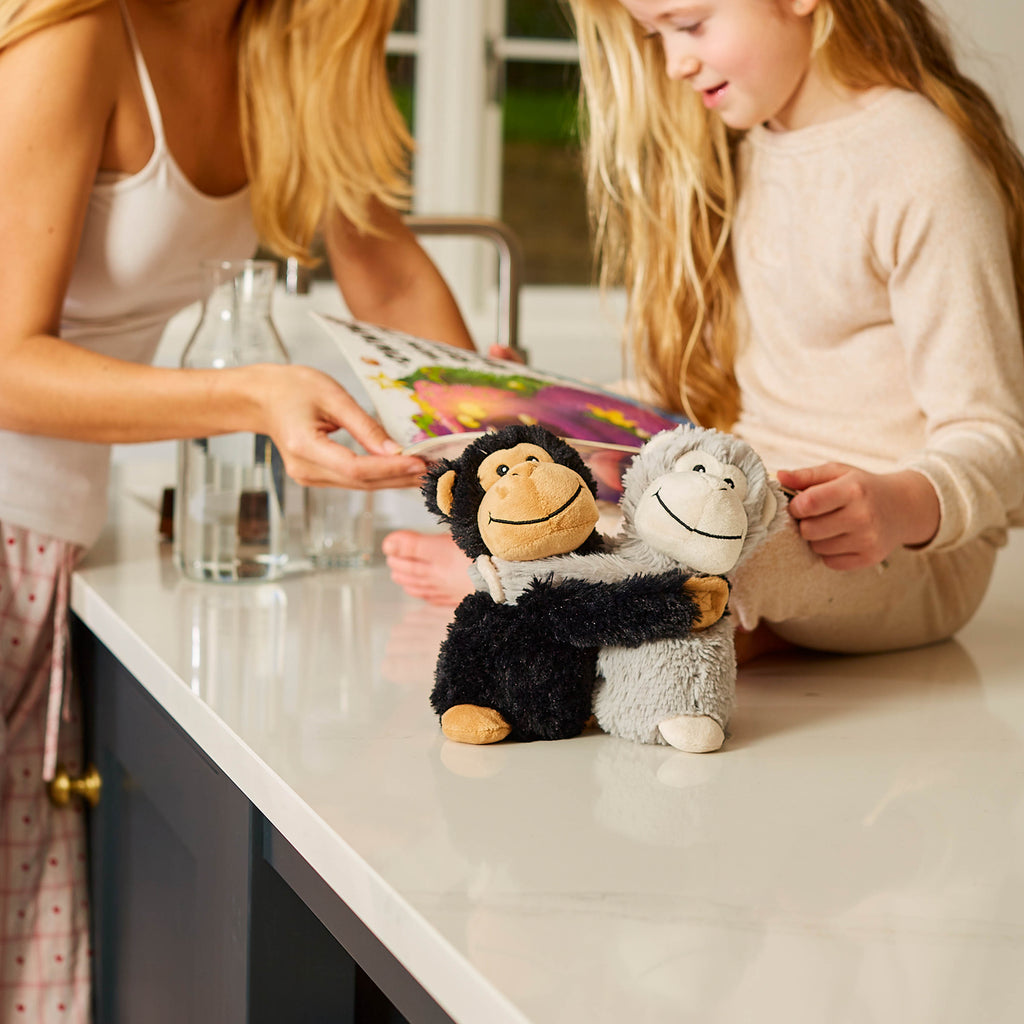 Warmies® Fully Microwaveable Warm Hugs Monkeys, Heatable Soft Cuddly Teddy With Relaxing Lavender Scent