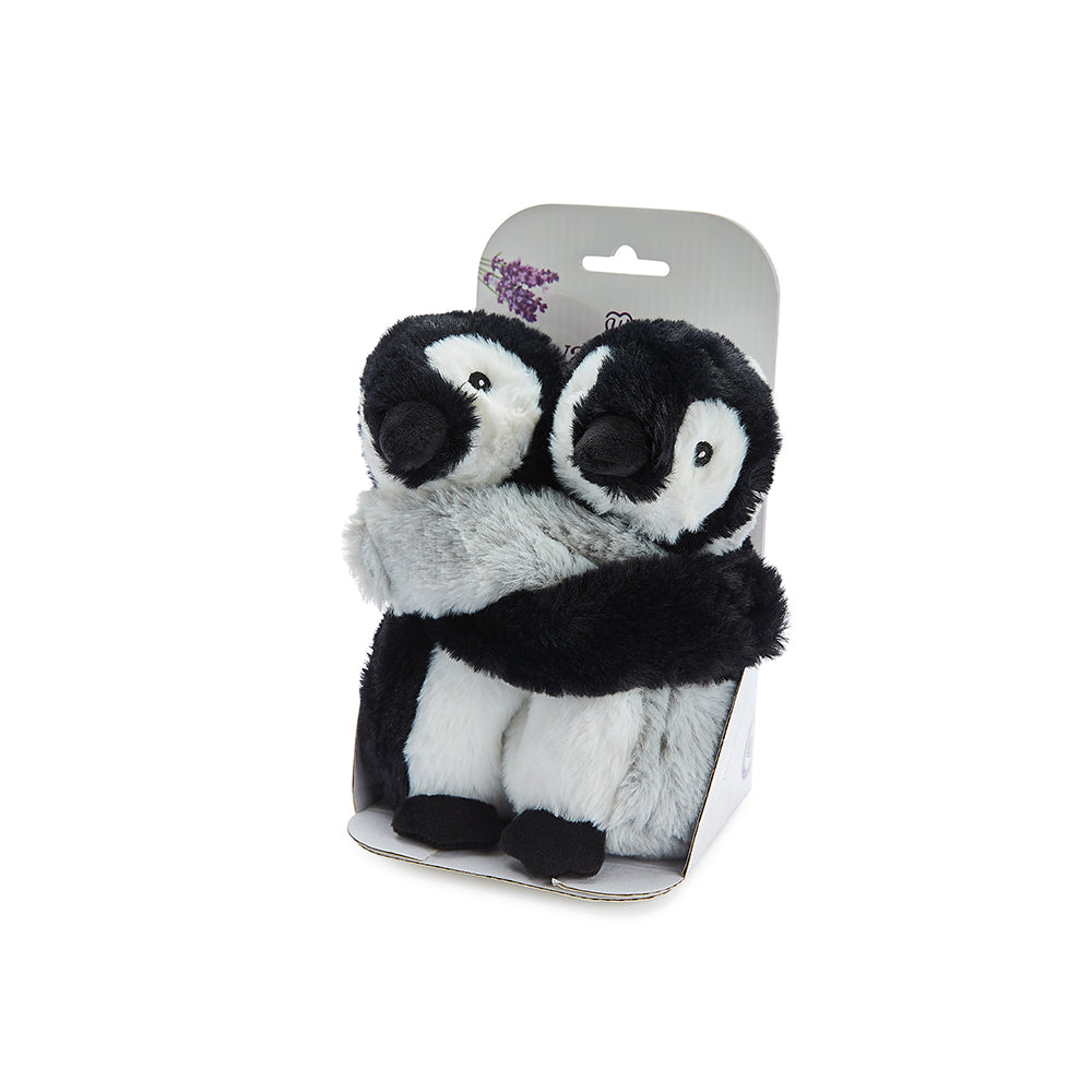 Warmies® Fully Microwaveable Warm Hugs Penguins, Heatable Soft Cuddly Teddy With Relaxing Lavender Scent