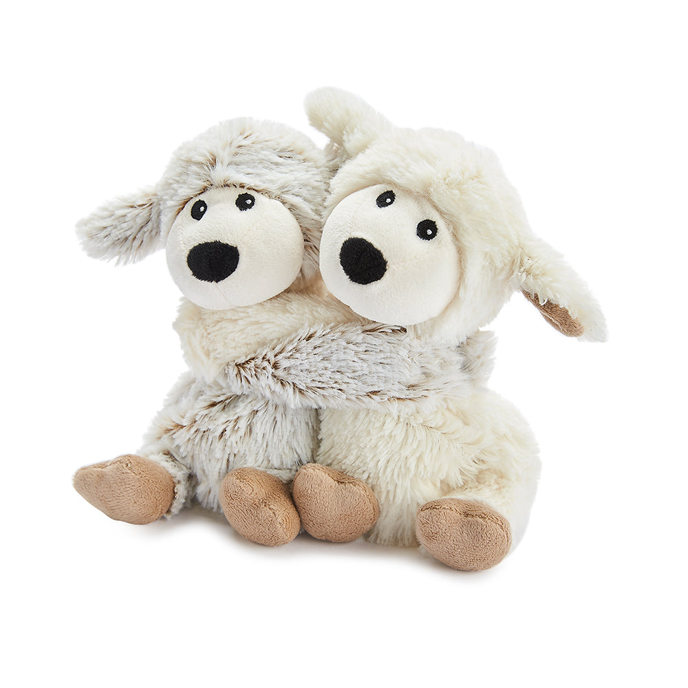 Warmies® Fully Microwaveable Warm Hugs Sheep, Heatable Soft Cuddly Teddy With Relaxing Lavender Scent