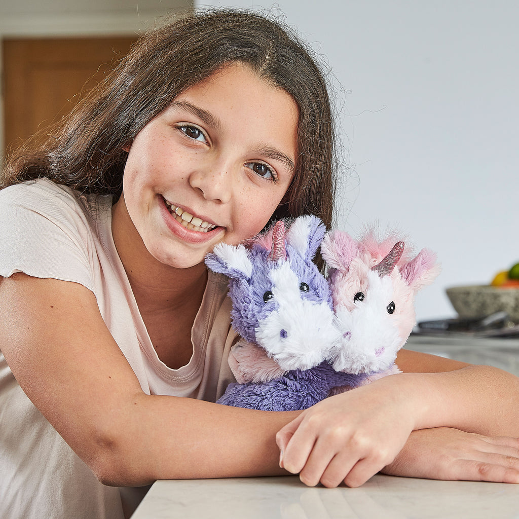 Warmies® Fully Microwaveable Warm Hugs Unicorns, Heatable Soft Cuddly Teddy With Relaxing Lavender Scent