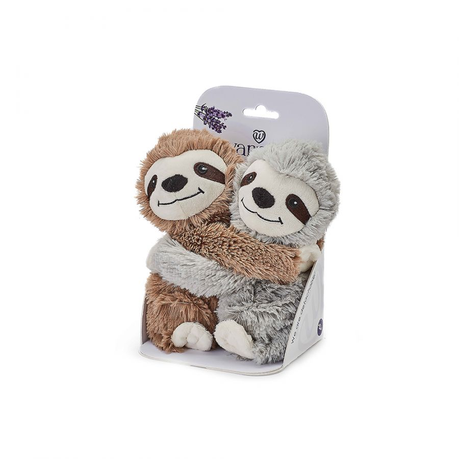 Warmies® Fully Microwaveable Warm Hugs Sloths, Heatable Soft Cuddly Teddy With Relaxing Lavender Scent
