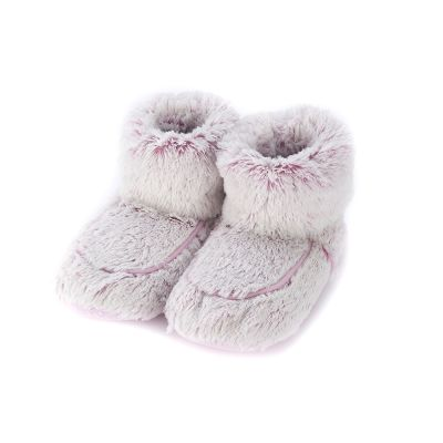 Warmies® Fully Microwaveable Plush Boots Marshmallow Pink, Heatable Soft Cuddly Boots With Relaxing Lavender Scent