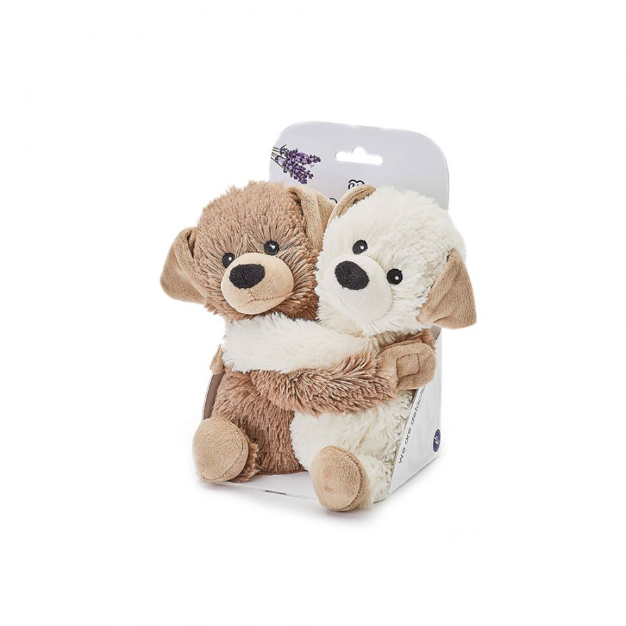 Warmies® Fully Microwaveable Warm Hugs Puppies, Heatable Soft Cuddly Teddy With Relaxing Lavender Scent