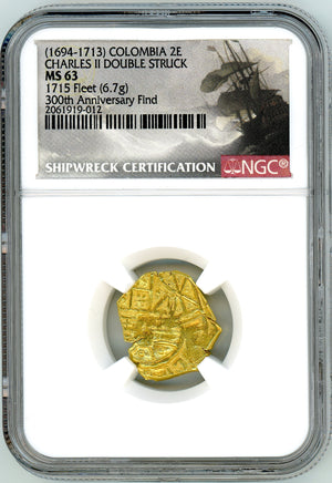 Load image into Gallery viewer, 1715 Fleet Shipwreck, Columbia 2E, NGC MS 63