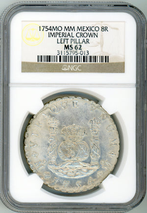 1754MO MM Mexico 8R Imperial Crown NGC MS 62