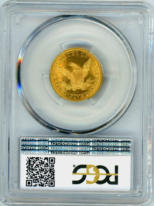 Load image into Gallery viewer, 1844 $5 Gold Liberty Head PCGS MS 64