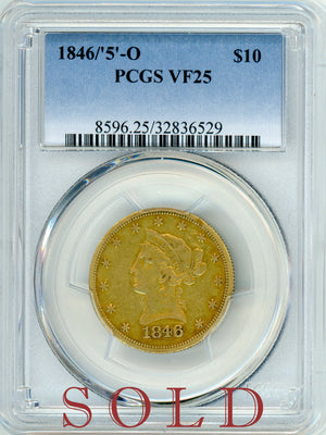 Load image into Gallery viewer, 1846/'5' - O PCGS VF 25