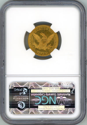 Load image into Gallery viewer, 1846 Large Date $5 NGC MS 63