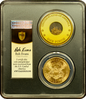 Load image into Gallery viewer, 1857-S $20 Liberty PCGS MS63 SSCA second recovery