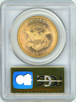 1857-S $20 PCGS MS64 SS Central America CAC