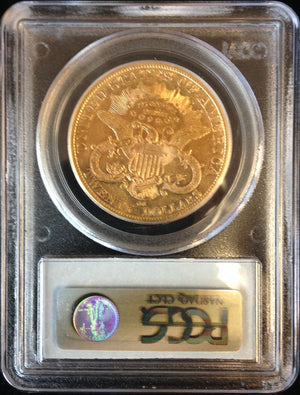 Load image into Gallery viewer, 1876 CC $20 Liberty PCGS XF 45