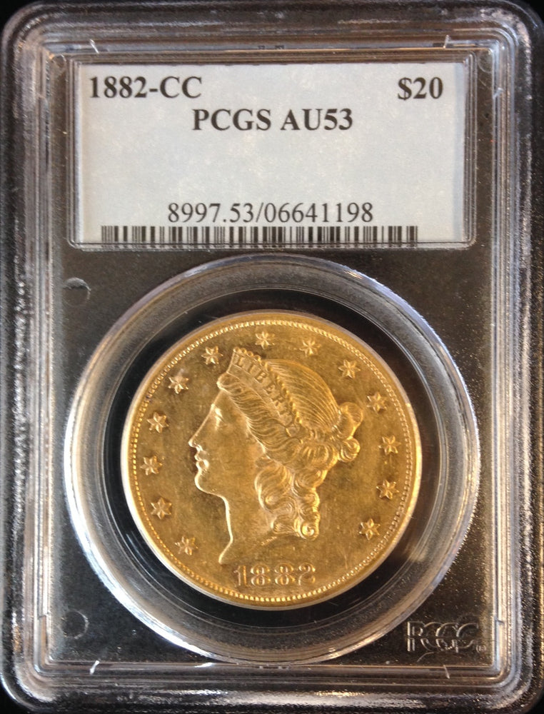 Load image into Gallery viewer, 1882 CC $20 Liberty PCGS AU 53