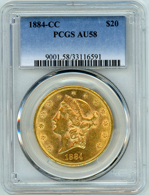 Load image into Gallery viewer, 1884 CC PCGS AU 58