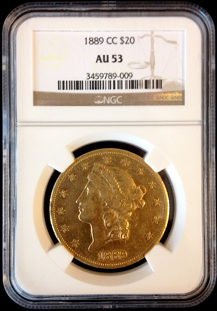 Load image into Gallery viewer, 1889 CC $20 Liberty NGC AU 53