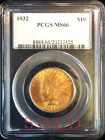 1932 $10 Indian MS66 PCGS