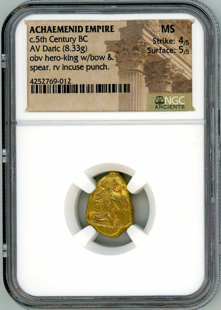 Achaemenid Persian Empire 4x5 Daric NGC MS