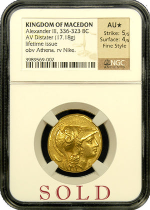 "Alexander the Great Gold Distater NGC AU Star ""Fine Style"""