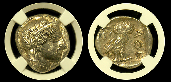Load image into Gallery viewer, Attica Athens AR Tetradrachm NGC MS