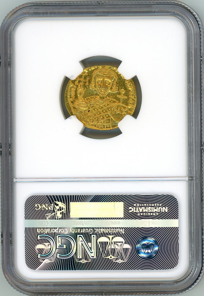 Byzantine Empire, Justinian II Second Reign NGC Gem MS 5x5