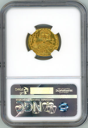 Load image into Gallery viewer, Byzantine Empire, Justinian II Second Reign NGC Gem MS 5x5