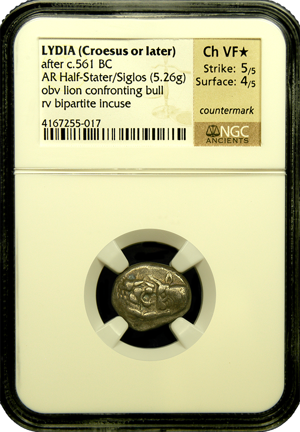 Load image into Gallery viewer, Lydia, King Croesus Silver Half-Stater NGC ChVF star
