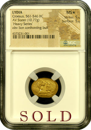 Load image into Gallery viewer, Croesus Heavy Gold Stater NGC MS Star 5x5