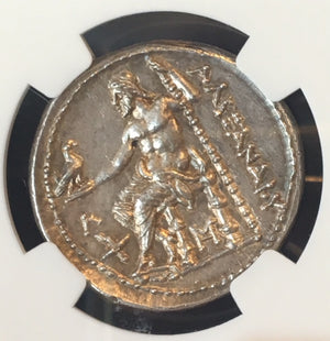 Kingdom of Macedon, Alexander The Great Silver Tetradrachm NGC MS Star