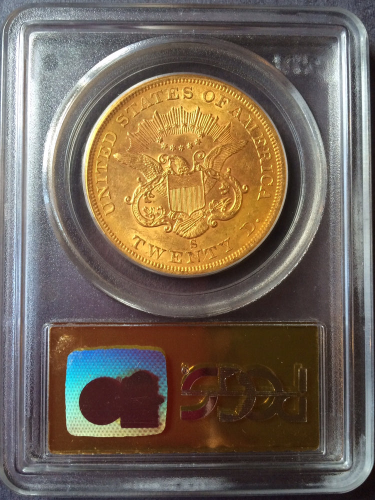 Load image into Gallery viewer, 1857-S $20 Liberty PCGS AU 55 S.S. Central America Shipwreck