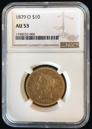 Load image into Gallery viewer, 1879 O $10 Lib NGC AU53