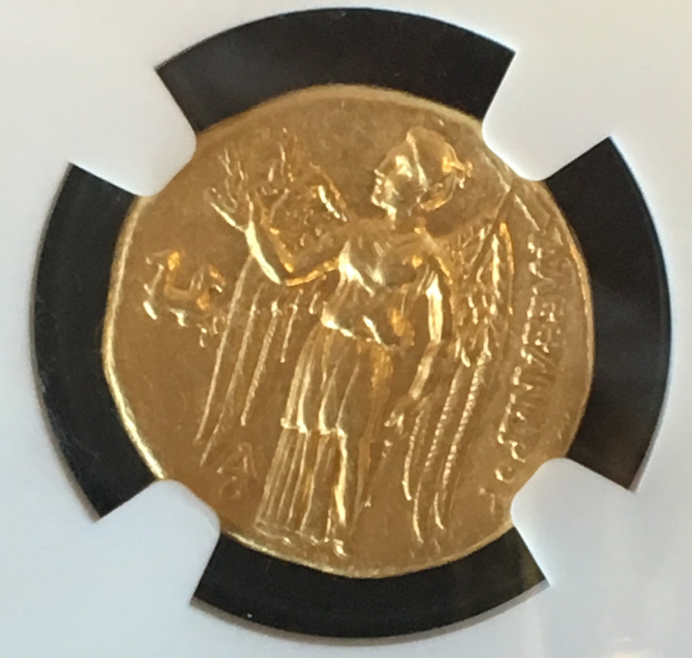 Kingdom of Macedon Alexander the Great gold stater Ch AU Star