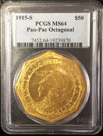 1915-S $50 Pan-Pac Octagonal PCGS MS64 US Commemorative