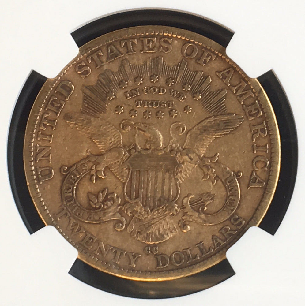 1889-CC $20 Liberty NGC XF40 - better date Carson City Gold