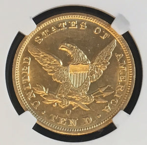 Load image into Gallery viewer, 1851-O $10 Liberty NGC AU58 SS Republic Shipwreck Gold