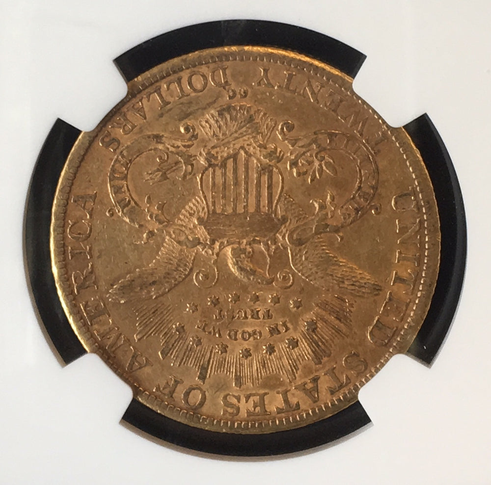 1889-CC $20 Liberty NGC AU55 - Better Date Carson City gold