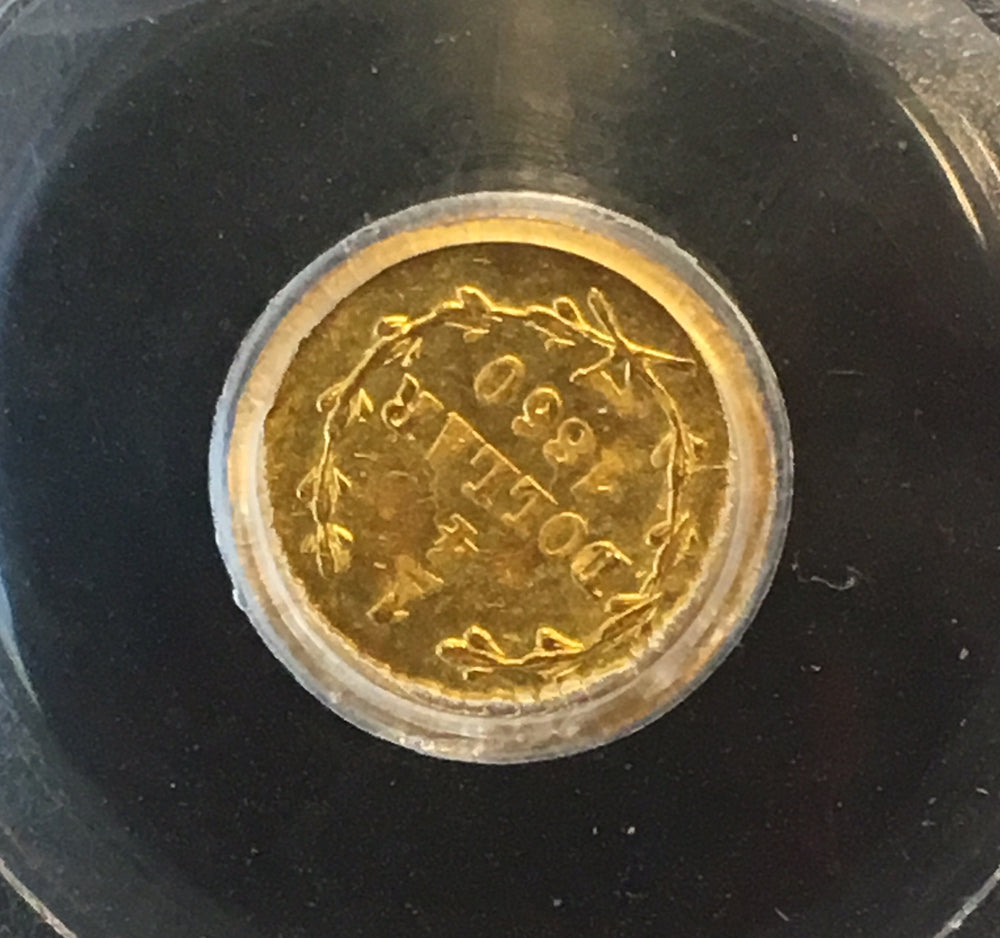 1860/50 California Fractional Gold 25c BG-819 PCGS MS 64