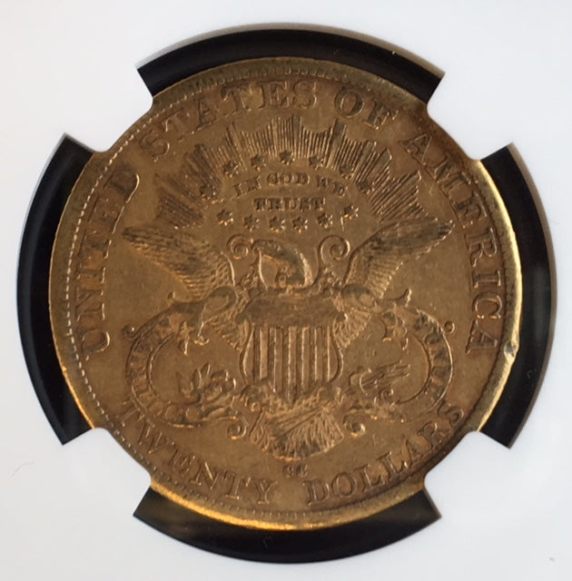 1883-CC $20 Liberty NGC AU53 Carson City Gold