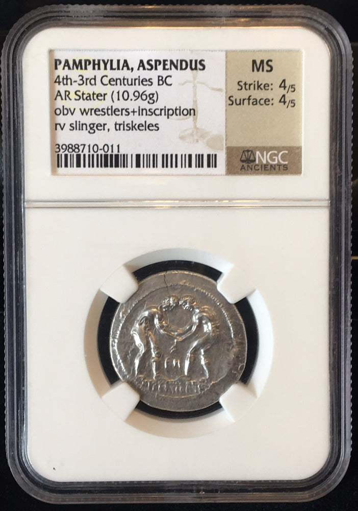 Load image into Gallery viewer, Pamphylia, Aspendus Silver Stater NGC MS
