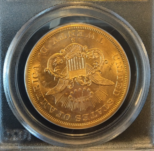 Load image into Gallery viewer, 1857-S $20 Liberty PCGS AU 55 CAC S.S. Central America Shipwreck