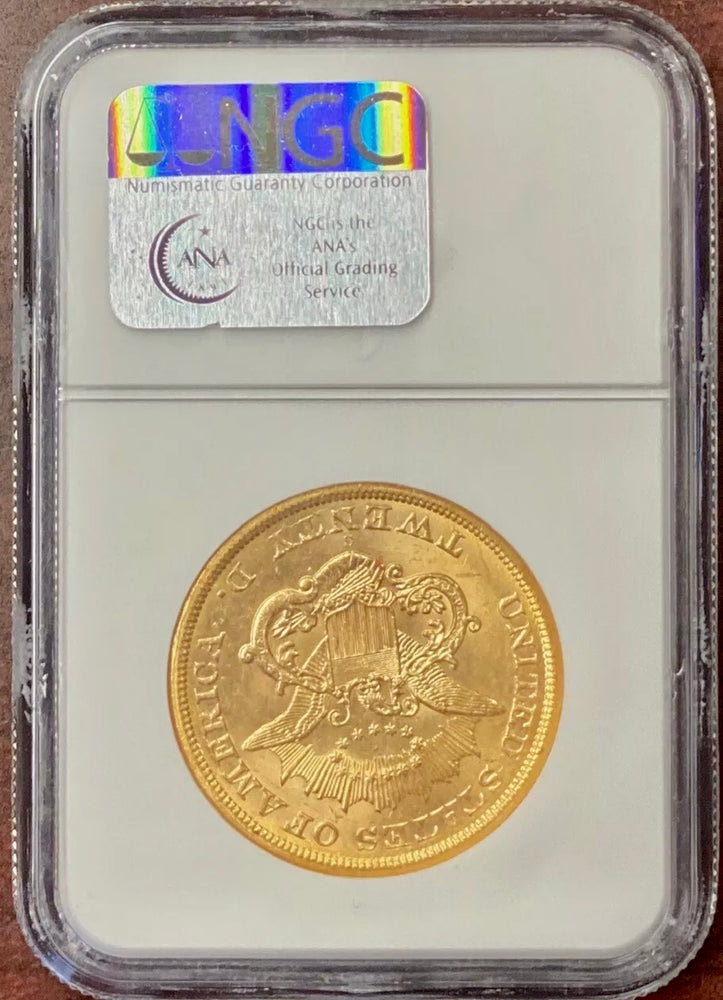 1865-S $20 Liberty Gold NGC MS62 SS Republic Shipwreck