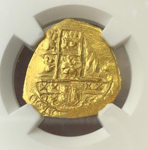 Load image into Gallery viewer, 1715 Fleet Columbia 2 Escudo Charles II NGC MS64