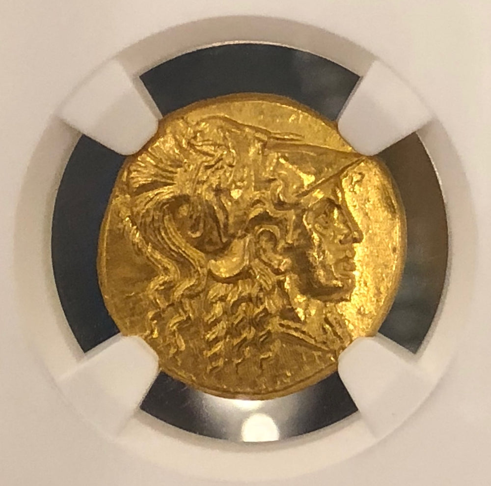 Alexander the Great Gold Stater NGC MS 5x3 Fine Style